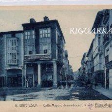 Postales: BRIVIESCA (BURGOS).- CALLE MAYOR, DESEMBOCADURA A LA PLAZA MAYOR. Lote 50913322