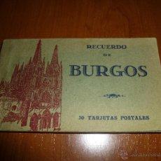 Postales: BLOC DE HAUSER Y MENET, RECUERDO DE BURGOS, 30 TARJETAS POSTALES DE 14 X 9 CM.. Lote 51059876