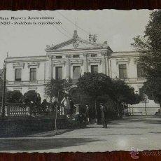 Postales: FOTO POSTAL DE PALENCIA, PLAZA MAYOR Y AYUNTAMIENTO, ED. ALONSO, NO CIRCULADA.. Lote 120487630