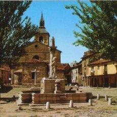 Cartes Postales: LEÓN. PLAZA E IGLESIA DEL MERCADO. 1974. . Lote 51529792