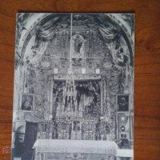 Postales: ANTIGUA POSTAL SANTUARIO SANTA CASILDA ALTAR MAYOR BRIVIESCA BURGOS. Lote 51797355