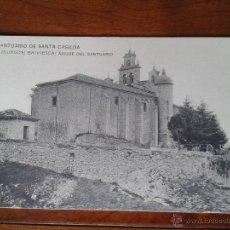 Postales: ANTIGUA POSTAL SANTUARIO SANTA CASILDA ABSIDE SANTUARIO BRIVIESCA BURGOS. Lote 51797392