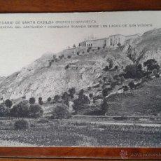 Postales: ANTIGUA POSTAL SANTUARIO SANTA CASILDA VISTA GENERAL BRIVIESCA BURGOS. Lote 51797460