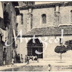 Postales: MAGNIFICA POSTAL - MIRANDA DE EBRO - BURGOS - IGLESIA DE SANTA MARIA - AMBIENTADA - ANTONIO PUENTES. Lote 51888219
