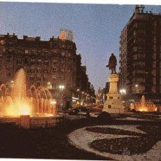 Postales: VALLADOLID PLAZA DE ZORRILLA FUENTES LUMINOSAS DE 1974. Lote 52319497