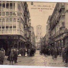 Postales: VALLADOLID. CALLE DE ALFONSO XII FOTOTIPIA HAUSER. L J. ESCRITA. SIN CIRCULAR.. Lote 52485652