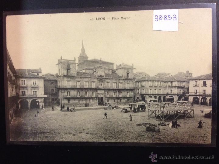 LEON - 40 - PLAZA MAYOR - G. GRACIA - (38853) (Postales - España - Castilla y León Antigua (hasta 1939))