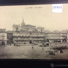 Postales: LEON - 40 - PLAZA MAYOR - G. GRACIA - (38853). Lote 52867823