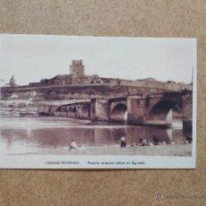 Postales: CIUDAD RODRIGO - PUENTE ROMANO SOBRE EL AGUEDA. Lote 52870489