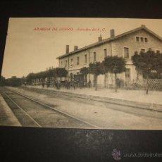 Postales: ARANDA DE DUERO BURGOS ESTACIÓN DEL FERROCARRIL . Lote 52932258