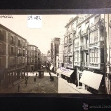 Postales: ZAMORA - PLAZA DE SAGASTA Y CALLE RENEVA - FOTOGRAFICA SELLO EN SECO ROISIN - (39023). Lote 52977994