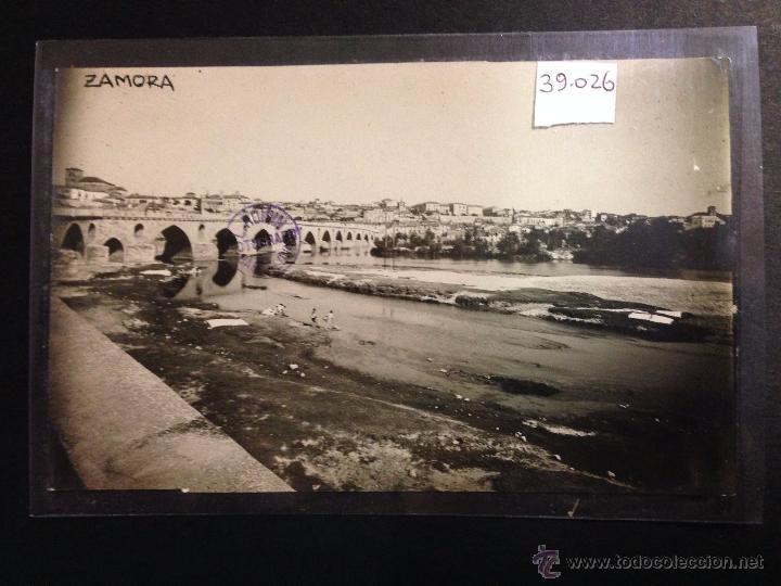ZAMORA - VISTA GENERAL - LAVANDERAS - FOTOGRAFICA SELLO EN SECO ROISIN - (39026) (Postales - España - Castilla y León Antigua (hasta 1939))