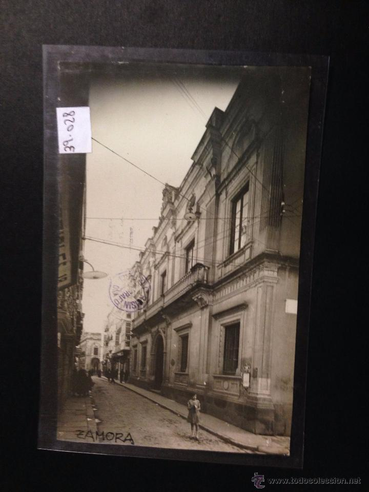 ZAMORA - PALACIO DE LA DIPUTACION - FOTOGRAFICA SELLO EN SECO ROISIN - (39028) (Postales - España - Castilla y León Antigua (hasta 1939))