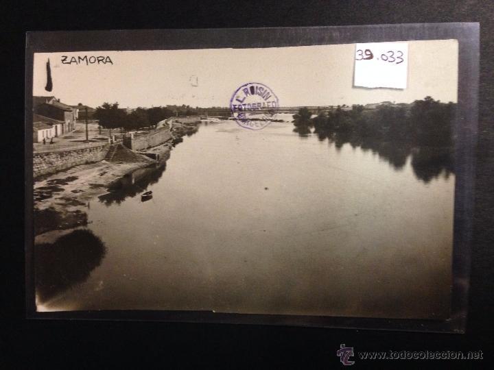 ZAMORA - RONDA DE CIRCUNVALACION - RIO DUERO - FOTOGRAFICA SELLO EN SECO ROISIN - (39033) (Postales - España - Castilla y León Antigua (hasta 1939))