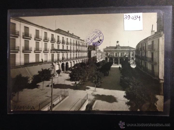 ZAMORA - PLAZA MAYOR - FOTOGRAFICA SELLO EN SECO ROISIN - (39034) (Postales - España - Castilla y León Antigua (hasta 1939))