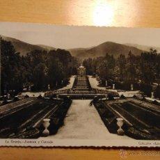 Postales: POSTAL DE LA GRANJA - PARTERRE Y CASCADA - COLECCION LOS MEDRANOS - HELIOTIPIA ARTISTICA ESPAÑOLA. Lote 52985457