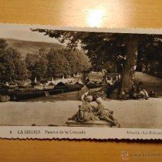 Postales: POSTAL DE LA GRANJA - PASEOS DE LA CASCADA - 5 COLECCION LOS MEDRANOS. Lote 52985596