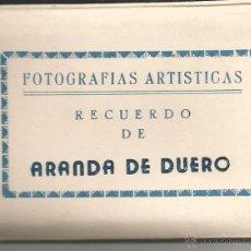 Postales: ARANDA DE DUERO - LIBRITO DE 10 POSTALES PEQUEÑAS - EDICIONES SICILIA. Lote 53168784
