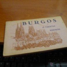 Postales: BURGOS, BLOC CON 20 TARJETAS POSTALES, FOTOTIPIA DE HAUSER Y MENET, DE 14 X 9 CM.. Lote 53721181