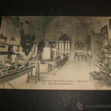 Postales: SEGOVIA ACADEMIA DE ARTILLERIA SALA DE EXPOSICION. Lote 53768699