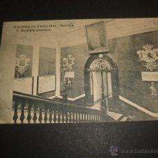 Postales: SEGOVIA ACADEMIA DE ARTILLERIA ESCALERA PRINCIPAL. Lote 53772006