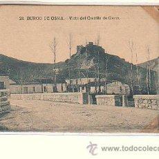 Postales: BURGO DE OSMA (SORIA).- VISTA DEL CASTILLO DE OSMA. Lote 54011183