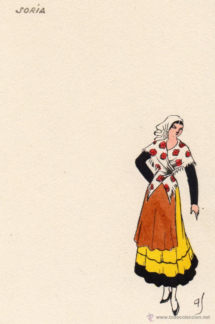 SORIA. TRAJE REGIONAL. AS (Postales - España - Castilla y León Antigua (hasta 1939))