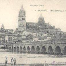 Postales: SALAMANCA. VISTA GENERAL Y PUENTE ROMANO. POSTAL BLANCO Y NEGRO, SIN CIRCULAR. C. 1930. Lote 54778869