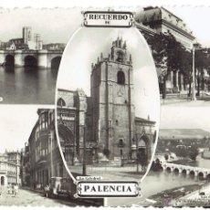 Postales: PS6270 PALENCIA 'RECUERDO DE PALENCIA'. SIN REFERENCIAS. CIRCULADA. 1955. Lote 53798991