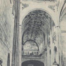 Postales: SALAMANCA. INTERIOR DE LA IGLESIA DE SANTO DOMINGO, TOMADA DESDE EL PRESBITERIO. POSTAL C. 1930. Lote 54824213