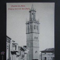 Postales: POSTAL PALENCIA. FUENTES DE NAVA. PLAZA Y TORRE DE SAN PEDRO. . Lote 54864185