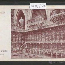 Postales: LEON - CORO DE LA CATEDRAL - IMP· EDITORIAL BARCELONESA - (41901). Lote 54880544