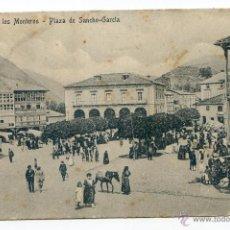 Postales: ESPINOSA DE LOS MONTEROS. PLAZA DE SANCHO GARCÍA. EDICIONES ALFREDO VARAS. PROP. ADOLFO S. ROZAS. Lote 55010168