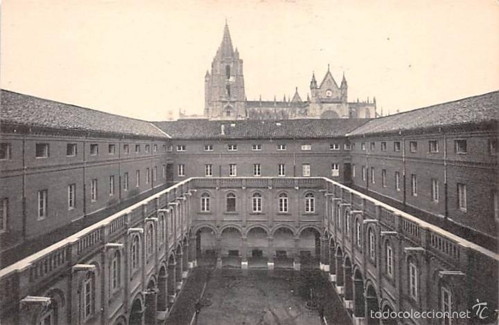LEÓN.- SEMINARIO- PATIO Y CLAUSTRO DE LOS FILÓSOFOS (Postales - España - Castilla y León Antigua (hasta 1939))