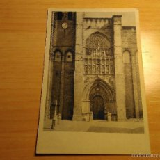 Postales: CATEDRAL DE AVILA - FACHADA PRINCIPAL. Lote 56025034