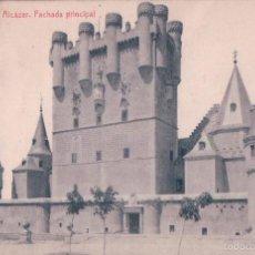 Postales: POSTAL SEGOVIA-EL ALCAZAR. FACHADA PRINCIPAL.CIRCULADA(255 FOTOTIPIA THOMAS). Lote 187038873