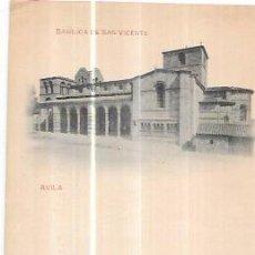 Postales: TARJETA POSTAL DE AVILA. BASÍLICA DE SAN VICENTE. HAUSER Y MENET. Nº150.. Lote 56910815