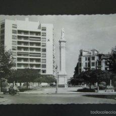 Postales: POSTAL LEÓN. PLAZA DE CALVO SOTELO. MONUMENTO A LA INMACULADA. . Lote 56916184