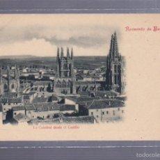 Postales: TARJETA POSTAL. RECUERDO DE BURGOS. Nº 4. LA CATEDRAL DESDE EL CASTILLO.. Lote 56935898