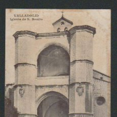 Postales: VALLADOLID.IGLESIA DE S.BENITO.ED.J.H.SIN CIRCULAR.( MUY MAL CONSERVADA ).. Lote 57495838