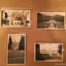 Postales: SEGOVIA - REAL PALACIO DE LA GRANJA - 4 FOTOGRAFIAS ANTIGUAS. Lote 57627616