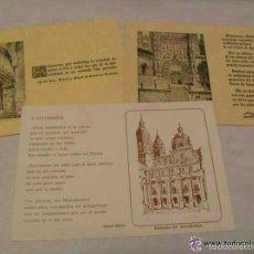 Postales: LOTE DE 3 POSTALES DISTINTAS DE SALAMANCA CON TEXTO LITERARIO. Lote 57642258