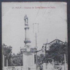 Postales: (47956)POSTAL ESCRITA,ESTÁTUA DE SANTA TERESA DE JESÚS,AVILA,ÁVILA,CASTILLA Y LEON. Lote 57682978