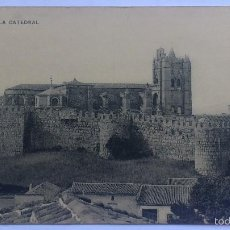 Postales: ANTIGUA POSTAL AVILA - LA CATEDRAL, FOTOTIPIA DE HAUSER Y MENET. Lote 57818757