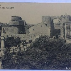 Postales: ANTIGUA POSTAL AVILA - PLAZA DEL ALCAZAR, FOTOTIPIA DE HAUSER Y MENET. Lote 57818858