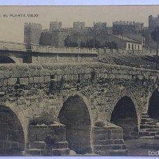 Postales: ANTIGUA POSTAL AVILA - EL PUENTE VIEJO, FOTOTIPIA DE HAUSER Y MENET. Lote 57818882