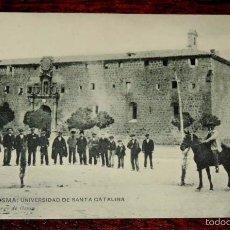 Postales: POSTAL DE BURGO DE OSMA, SORIA, UNIVERSIDAD SANTA CATALINA - EMILIO MARCO, BURGO DE OSMA, SIN CIRCUL. Lote 57884460