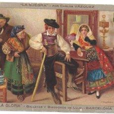 Postales: ANTIGUA TARJETA POSTAL PROPAGANDA DE GALLETAS LA GLORIA BARCELONA. Lote 57904411