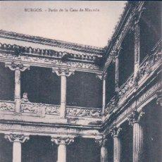 Cartes Postales: POSTAL BURGOS.-PATIO DE LA CASA DE MIRANDA. Lote 57950330