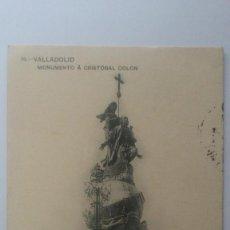 Postales: POSTAL VALLADOLID - MONUMENTO CRISTOBAL COLON, CIRCULADA CON SELLO AÑO 1913. Lote 57952949